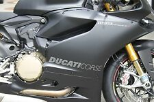 DUCATI Corse Aufkleber 1299 1199 899 959 Panigale Seitenverkleidung Paar Graphit