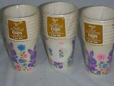 3 Pks Vtg NOS 8 Ct Ambassador Punk Purple Easter Bunny Hot Cold Paper Cups