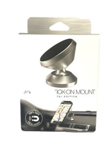 Magnetic Stick On Mount - Solid Metal Edition - Silver - Rotates and Pivots -New