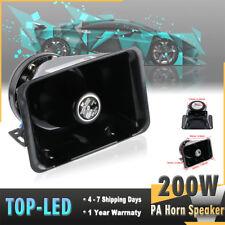 200W 8 Loud Speaker PA Horn Siren Warning System MIC Kit Traffice Car Fire Truck