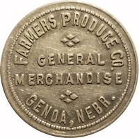 Farmers Produce Co. General Merchandise Genoa, Nebraska NE 10¢ Trade Token