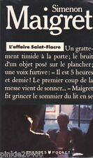 L'Affaire Saint-Fiacre - Simenon -Maigret.bon état. 17/4