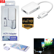 Micro USB MHL to HDMI 1080P HD TV Cable Adapter For Samsung Galaxy Tab 3 10.1