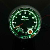 Universal 3.75'' 12V Car RPM Tachometer Tacho Gauge Meter W/ Shift Light 0-8000
