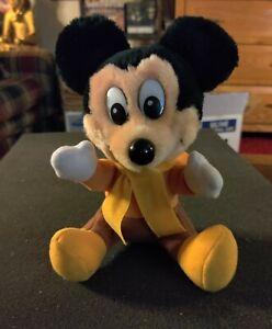 Vintage Disney Mickeys Christmas Carol Plush Tiny Tim Mickey Mouse *Korea (1984)