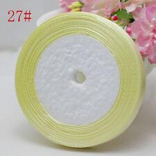 Hot New Charm 3/8 (10mm) 25yards Satin Ribbon Wedding Jewelry Craft Light Yellow