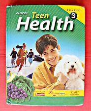 Glencoe Teen Health Course 3 Middle School Textbook Book 7 8 grade McGraw Hill