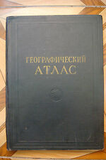 RUSSIAN Geographical Atlas for secondary school teachers MIA CCCP 1954
