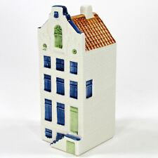 "Blue Delft 5.5"" Miniature Canal House Amsterdam Holland Brown Blue Green"