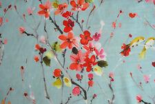 "Voyage soft furnishing fabric ""Armathwaite"", Cotton/Linen, pink, 0.8m length"