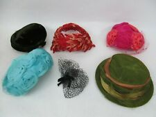Vintage Ladies Hat Collection Lot #2 – Church, Feather Fashion Flowers Veils