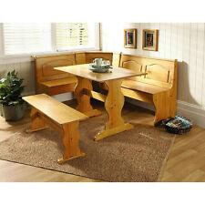 kitchen nook corner bench table set booth dining breakfast chair solid wood dining furniture sets   ebay  rh   ebay com