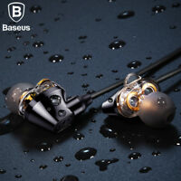 Baseus S10 Double dynamic bluetooth earphone / H10 3.5MM Wired Earphone with mic