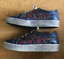 L'Artiste by Spring Step Mea Floral Leather Laser Cutout Sneakers 36 US 5.5