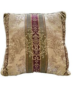 "1 Croscill Townhouse Dunhill Dover Manor Throw Bed Pillow 18x18"" Square"