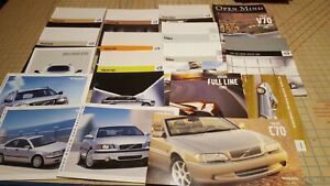 Vintage VOLVO Early 2000's Sales Brochures-S40 V50 C70 S60 XC70 XC90 & MORE