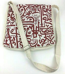 Canvas Messenger Adjustable Strap Crossbody Bag