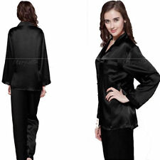Biancheria in seta nera per la notte da donna