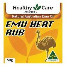 HEALTHY CARE NATURAL EMU OIL DEEP HEAT RUB FOR MUSCLES SPRAINS & ARTHRITIS 50G