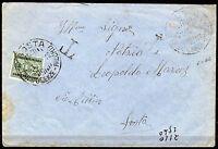 2390 - RSI (Repubblica Sociale) - 25 cent segnatasse su busta per Aosta, 1944