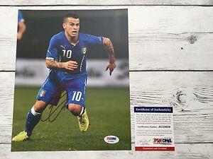 Sebastian Giovinco Signed Italy Italia 8x10 Photo PSA/DNA COA Autographed a