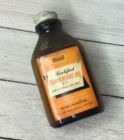 Vintage Rexall Rectified Turpentine Bottle Advertising 2 Oz.