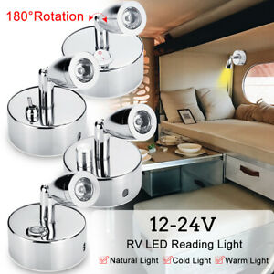 ❤ 12V Interior Touch LED Reading Light Marine RV Boat Camper Spotlight Wall Lamp