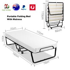 Portable Folding Single Foam Mattress Bed Outdoor Camping Hotel Guest Beds Frame
