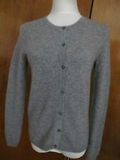 Bloomingdale's Women's Gray 2Ply Cashmere Cardigan Size Small NWT