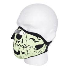 Oxford Anti Fog OX629 Motorbike Motorcylce Face Mask Adjustable Glow Skull