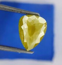 Big 2.22TCW Green Yellow Pear Rose cut Africn Antique Loose Real Natural Diamond