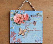 Vintage/Retro Floral French Decorative Plaques & Signs