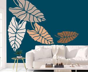 Leaf Stencil Caladium Tropical Beach Painting Wall Furniture Reusable FL172