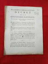 601 LOI  DECRET CONVENTION NATIONALE 1793 FRAIS DE LA  LEVÉE DE CHEVAUX GUERRE