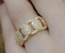 Wedding Band Yellow Gold Fine Diamond Rings