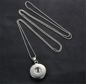 Diy Handmade New Fashion Necklace Chain Fit Noosa Charm 18Mm Chunk Snap Button