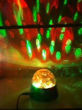 CRYSTAL STAR BALL FLASHING COLOUR LED PARTY DISCO LIGHT USB & BATTERY POWERED