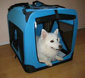 """20"""" Portable Travel Soft-Sided Pet Crate Foldable Carrier Kennel For Dog or Cat"""