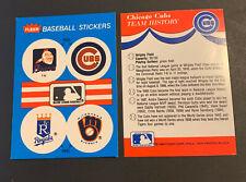 1989 Fleer Baseball Sticker Atlanta Braves Chief Noc-a-Homa Cubs Royals Brewers