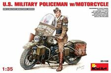 Miniart 1/35 U.S. Military Policeman with Motorcycle # 35168