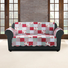 SureFit  Heirloom Quilted Sofa Pet/Slipcover with Arms, Cottage Patchwork New