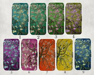 Van Gogh Almond Blossom Wallet Case Note 20 Ultra,S21 plus,S10,S7 edge,Teal,Pink