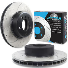 FRONT DRILLED GROOVED 324mm BRAKE DISCS FOR BMW E60 E61 5 SERIES SALOON TOURING