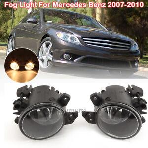 For 06-14 Mercedes Benz CL CLK CLS E/B/C-Class Pair Bumper Fog Light Clear Lens