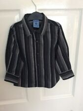 Baby Boy's PUMPKIN PATCH Black & White Striped Long Sleeved Shirt Age 24 months