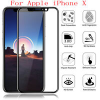 9H Tempered Glass Screen Protector Guard 5D Full Cover Film for Apple iPhone X