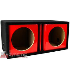 "ATREND ZV12D Custom 12"" Dual Vented Ported Kandy Red Paint Sub Enclosure Box"