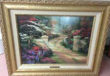 "Thomas Kinkade ""Spring Gate"" Canvas 21.5 x 17.5 Coa, Real Beauty"