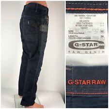 G Star Mens 32 X 32 Jeans 5620 Tapered Raw Denim 100% Cotton