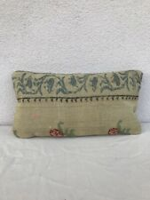 vintage french country decor kilim throw pillows soft tapestry aubusson cushion